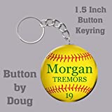 Softball-ButtonKey-Ring-Bag-Tag-personalized-with-name-number-team-15-inch-charms