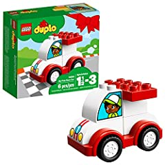Little racing drivers will love to build and rebuild this LEGO DUPLO 10860 My First Race Car set for endless driving fun. It's simple for preschool children to build, developing fine motor and early construction skills, and it's a fun toy to ...