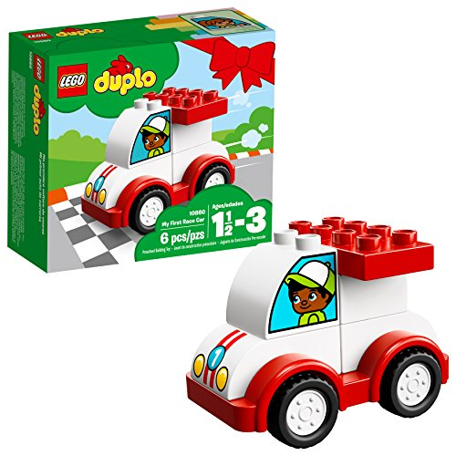LEGO DUPLO My First Race Car 10860 Building Blocks (6 Piece) (Best Fun First Cars)
