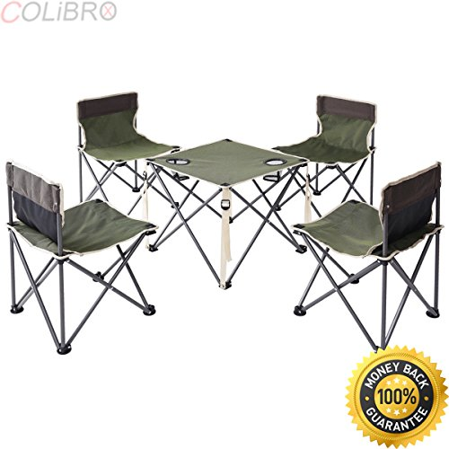 COLIBROX--Portable Folding Table Chairs Set Outdoor Camp Beach Picnic w/ Carrying Bag New. folding camping tables. best portable camping table amazon. camping chairs walmart. camping table walmart. ()