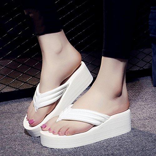 Mujeres Señoras Sandalias Flip flops Mujer de verano resbaladizo Sandalias impermeables de fondo grueso Sandalias de la personalidad de la manera con los tamaños Cómodo ( Color : 1003 , Tamaño : 36 ) 1003