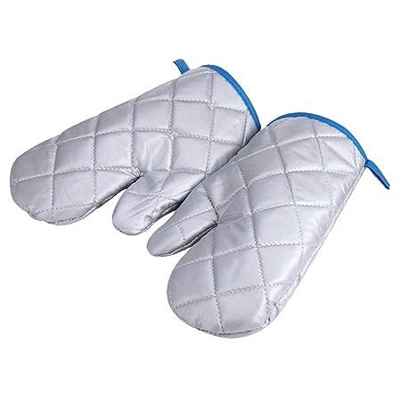 asentechuk® 2pcs espesada resistente al calor algodón Manopla para ...