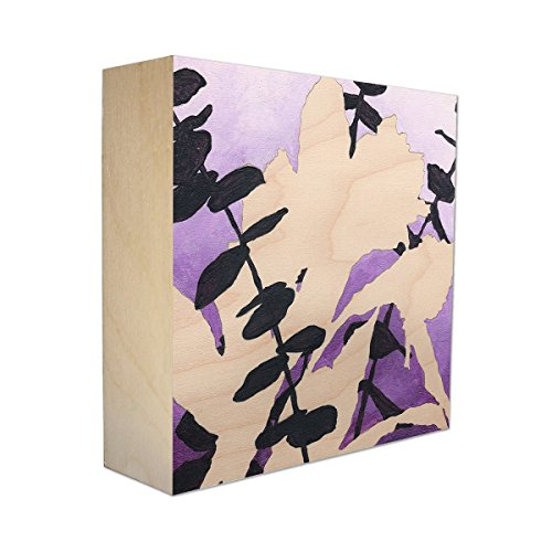Limited Edition Botanical Print on Birch Panel - Violet Bouquet - Bouquet Panel