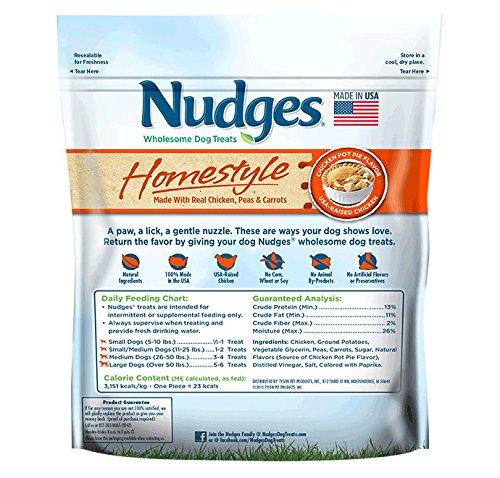 Nudges Homestyle Chicken Pot Pie Dog Treats, 16 oz (014135-2313)