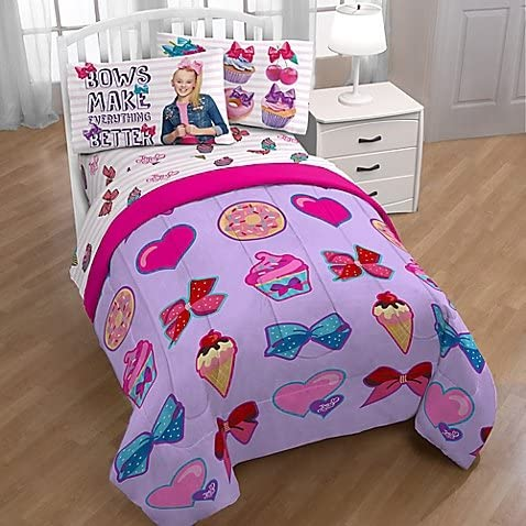 JoJo Siwa 5 Piece Bed in Bag Set Comforter /& sheet Set Twin Full Kids Bedding