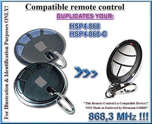 HSP4 / HSP4-C sostituzione compatibile trasmettitore remoto, telecomando clone, 868.3Mhz fixed code keyfob