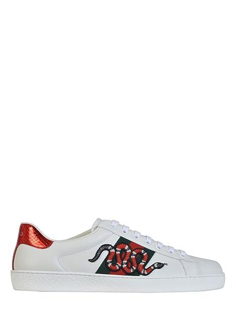 Gucci Hombre 456230A38G09064 Blanco Cuero Zapatillas: Amazon.es: Zapatos y complementos
