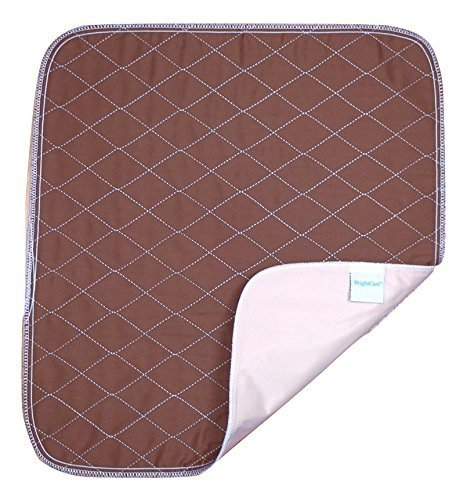 Care Chair (Ultra Waterproof Washable Seat Pad (20x 22in) For Incontinence - Adult, Children, or Pet Underpad Protection - Triple Layer Chair Protector Design, 24 ounce Absorbency (Brown) - by BrightCare)