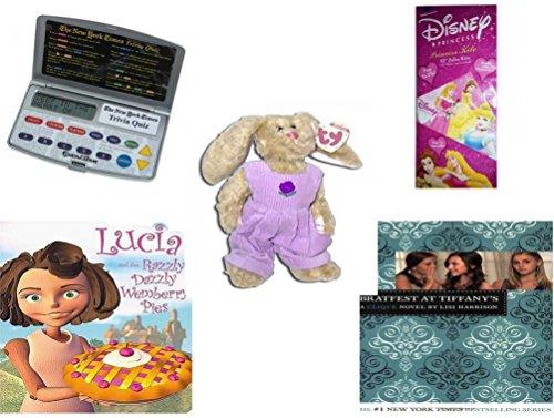Girl's Gift Bundle - Ages 6-12 [5 Piece] - Electronic New York Times Trivia Quiz Game - Disney Princess 52
