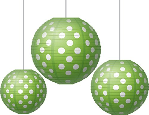 lime green paper lanterns classroom ceiling decor