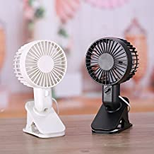 Businda Clip USB Desk Fan Protable Double Blades with 2 Speed Adjustable Fan Electric Fan Stand Fan for Home Outdoor