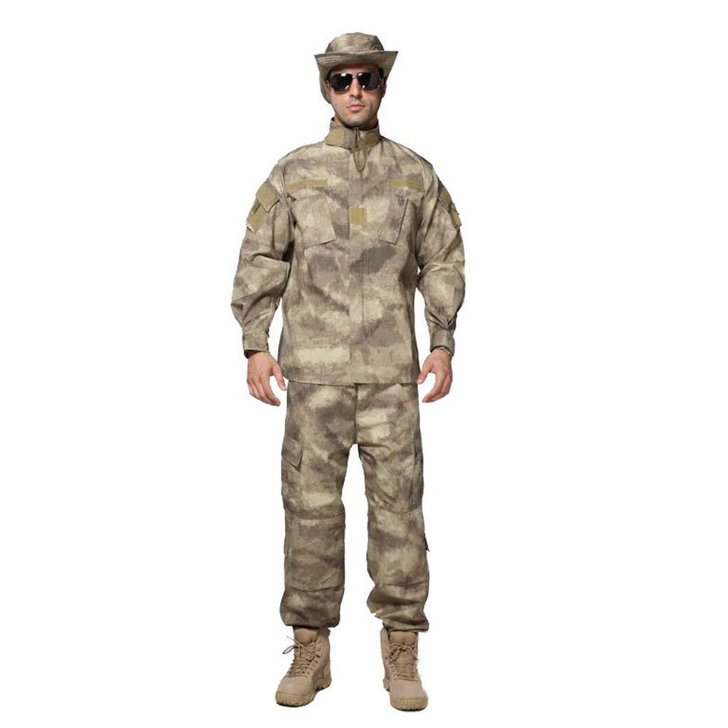GRZP Herren Camouflage Sportswear Suit Camouflage Stitching Design Jacke Jacke Slim Hose, für den Dschungel versteckt Jagd Sport Klettern Reiten Trainingsanzüge (größe : S/170-175/65kg)