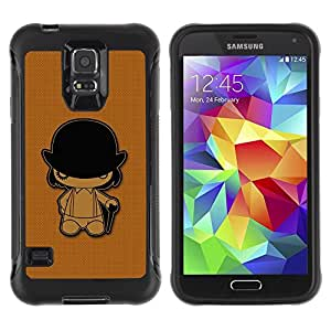 Suave TPU GEL Carcasa Funda Silicona Blando Estuche Caso de protección (para) Samsung Galaxy S5 V / CECELL Phone case / / Clockwork Orange /