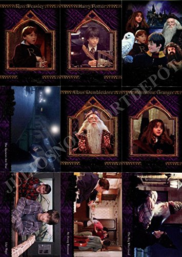 (HARRY POTTER AND THE SORCERERS STONE 2005 ARTBOX COMPLETE BASE CARD SET OF 90)