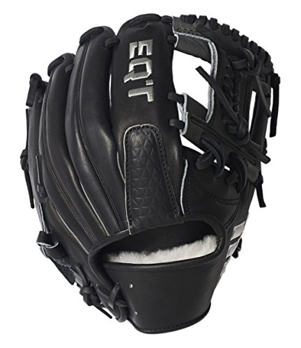 adidas Performance Baseball Middle & Corner Infield Fielding Glove, Black/White/Onix, 11.75