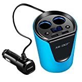 WINOMO Car Dual USB Charger Adapter Cup Shaped for iPhone iPad Samsung Smartphone(Blue)