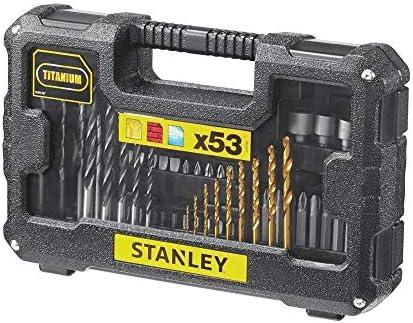 Stanley FatMax STA7223-XJ Juego de 53 Piezas para taladrar y atornillar, Negro: Amazon.es: Bricolaje y herramientas