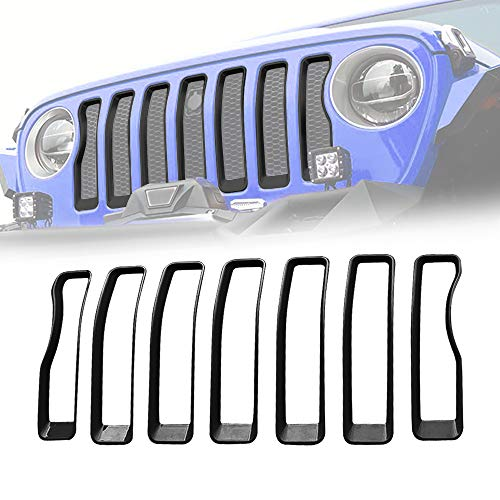 American Modified Jeep Wrangler Grill Inserts for Jeep Wrangler Accessories JL JLU, 2018-2019