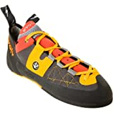evolv Men's Demorto Rock Climbing Shoe,Gray/Orange,12.5 M US, Outdoor Stuffs
