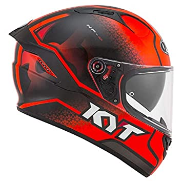 Amazon.es: KYT casco nf-r Hyper flúor Red - M