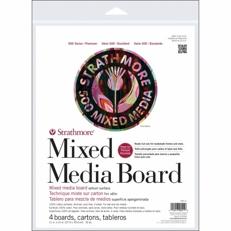 Strathmore Mixed Media Boards 4/Pkg-11x14