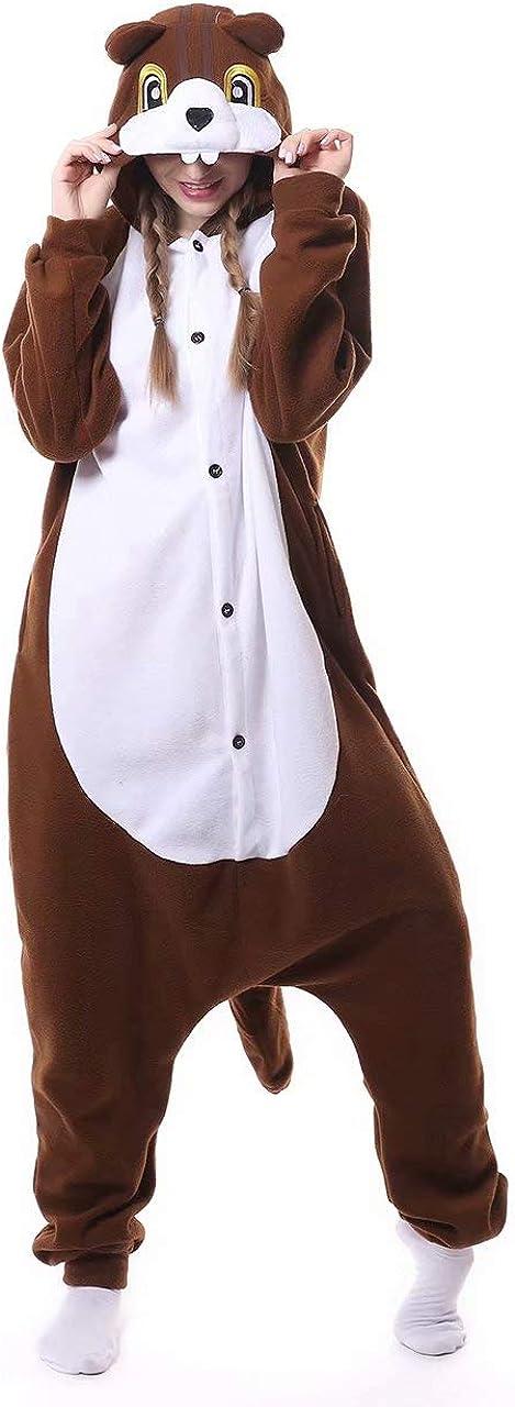 Dorliki Pijama de Forro Polar para Adultos, Disfraz de Animal para Halloween, Navidad, Cosplay, Mono para el hogar