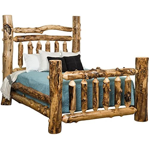 Aspen Log Double Top Rail Grand Bed - King Size