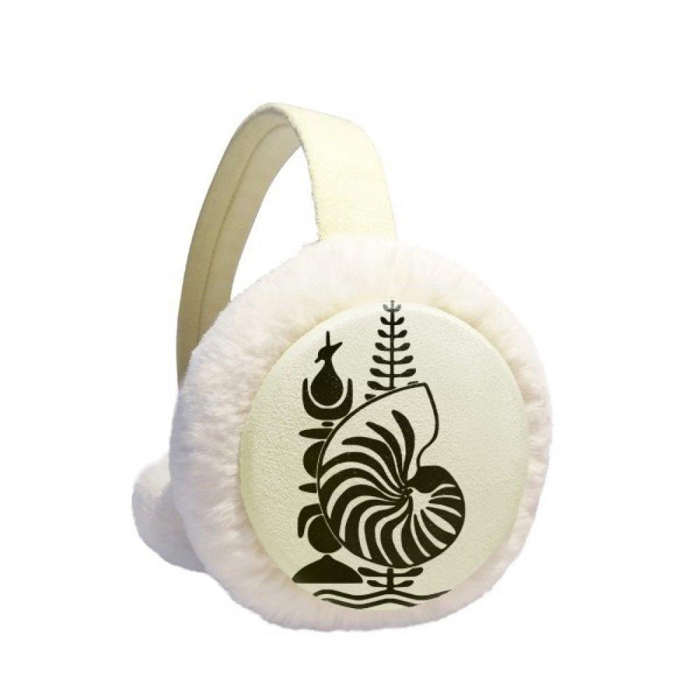 New Caledonia National Emblem Winter Earmuffs Ear Warmers Faux Fur Foldable Plush Outdoor Gift