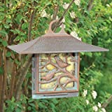 Cheap Whitehall Products, Nuthatch Aluminum Suet Feeder 30052, 10 inches wide by 9 inches high, copper verdigris