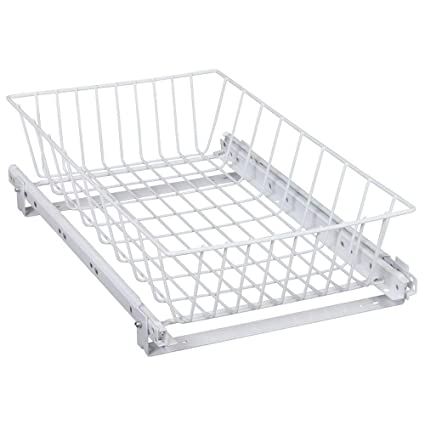 Amazon.com: Under Sink Pull Out Basket - wire (White) (5