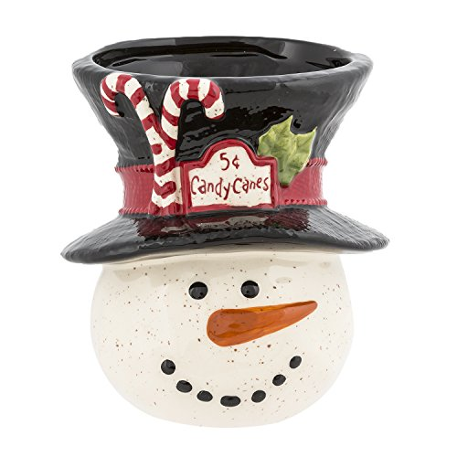[Grasslands Road A Very Merry Christmas: Snowman Candy Cane Holder] (Santa Candy Cane Holder)