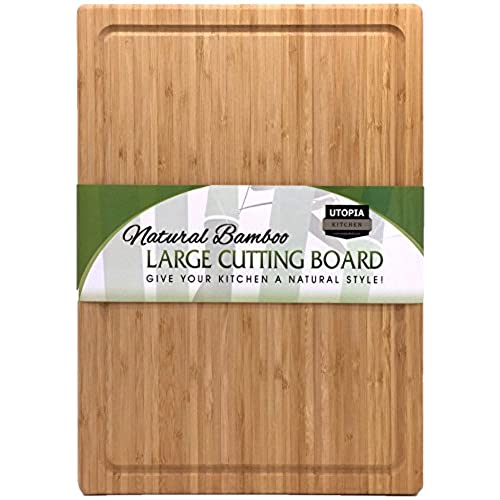 Extra Large Bamboo Cutting Board 17 By 12 Inch