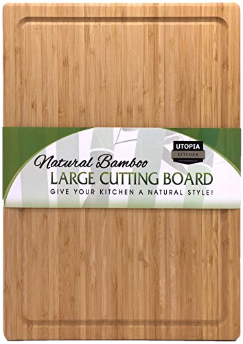 Extra Large Bamboo Cutting Board (17 by 12 inch) – Utopia Kitchen 51jABsu0qeL