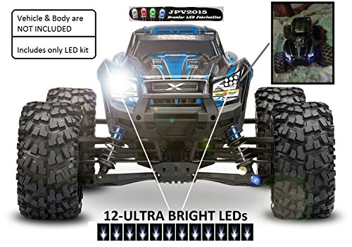 JPV2015 Genuine Product - Traxxas X-MAXX/E-REVO LED Light Kit - 12 LEDs - Premium Quality - Handmade in USA exclusively by -