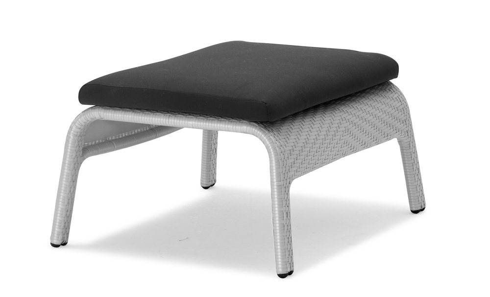 100Essentials South Foot Stool with Cushion, Light Sky Blue by 100 Essentials