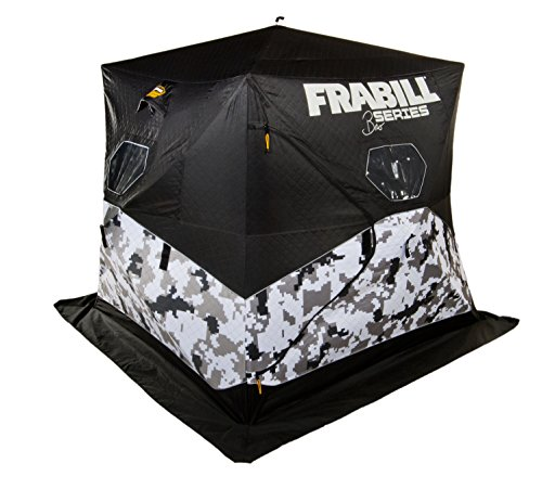 Frabill Bro Hub Top & Sides Insulated 2 - 3 Man Snow Camo (Man Ice Shelter)