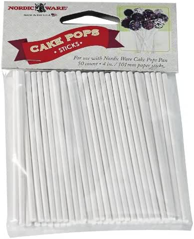 Nordic Ware 01175 50 Count Cake Pop Sticks
