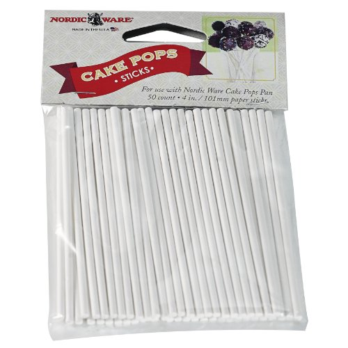 Nordic Ware 01175 50 Count Cake Pop Sticks (Cake Pop Pan Nordic Ware compare prices)