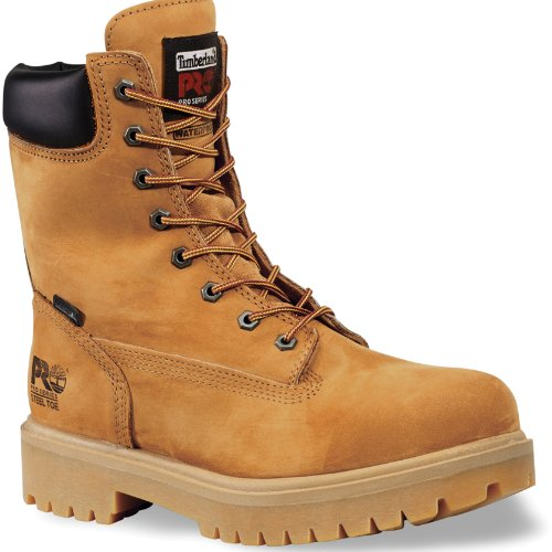 (TIMBERLAND PRO Men's Steel Toe Insulated Logger Work Boots Wheat Brown 8)