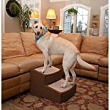 Pet Gear Easy Step II Extra Wide Pet Stairs, 2-step/for cats and dogs up to 200-pounds, Chocolate