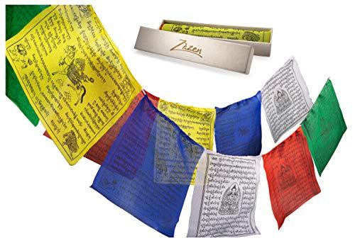 Zazen Tibetan Flags, Roll of 25 Large Flags (10