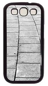 Samsung Galaxy S3 Case Cobblestone Alley PC Hard Plastic Case for Samsung Galaxy S3 / SIII / I9300 - Polycarbonate - Black