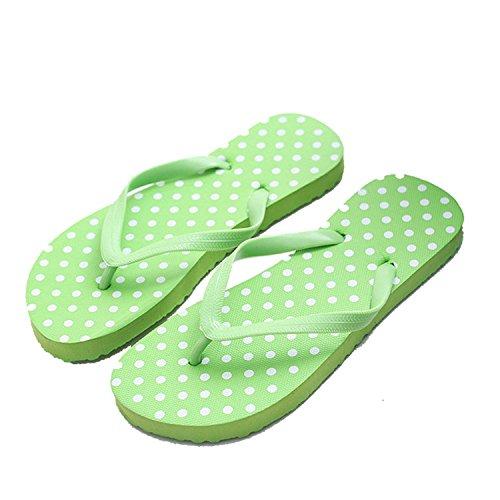 Dataiyang Woman Beach Slippers Flat Female Summer Shoes Flat Slippers Sandals Polka Dot Flip Flops B07CR35CTX Parent 45ddff