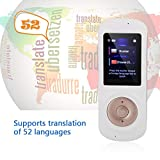 fosa Smart Wireless Voice Language Translator, Portable 52-Languages Translator Two-Way Real Time Voice Translation for Travelling,Business and Meeting(White)