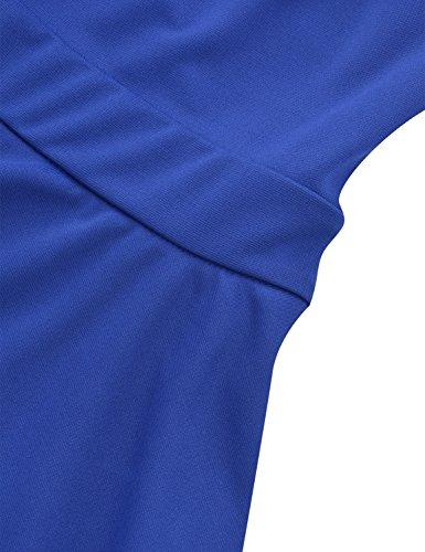 Yidarton Mujer Vestido Corto Elegante Sin Mangas Casual De La Fiesta Boda Playa Vestidos De Coctel Verano Azul