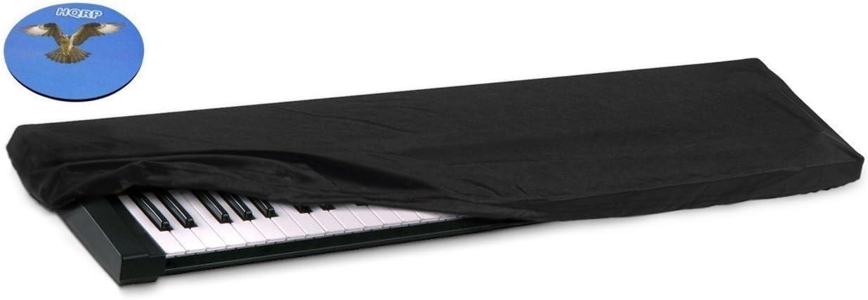 HQRP Elastic Dust Cover w//Bag for Yamaha P-140 P155 P-155B P140 P155B Electronic Keyboard Digital Piano HQRP Coaster P-155