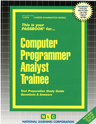 Computer Programmer Analyst Trainee(Passbooks)