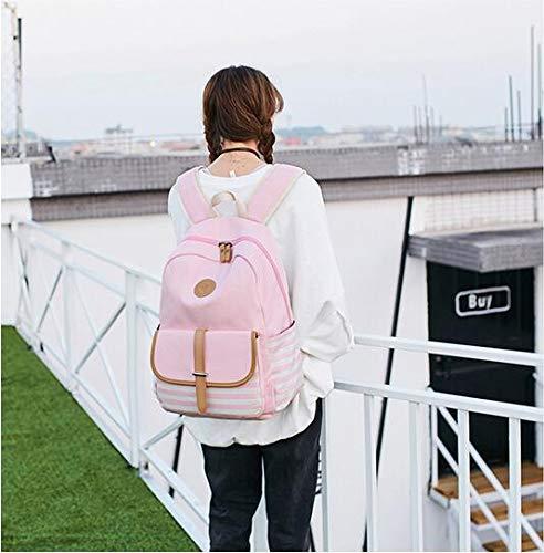 Couleur rose Toile de mère WEIZHE Sacs à Contrastante Main Mode sur Seule épaule de Portable Sac O5Zwq50F