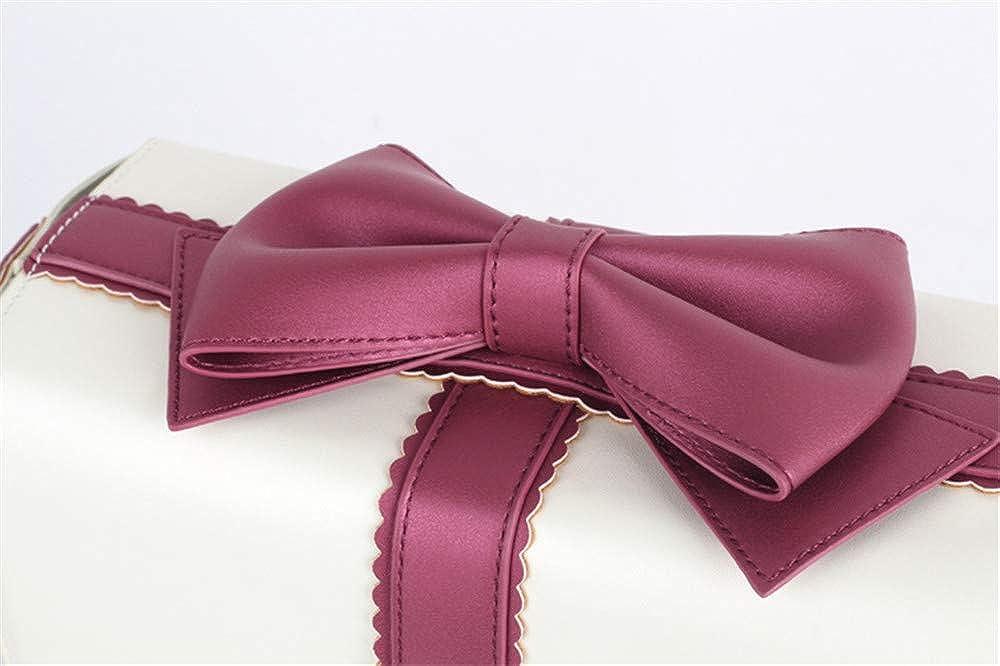 Women Gift Box Shaped Lolita Bow Ribbon Shoulder Bag Crossbody Bag