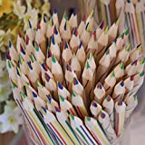 Gbell 10pcs Rainbow 4 in 1 Color Pencil Colored Pencils For Drawing Office School Stationery for Kids Girls boys Adults (Multicolor)